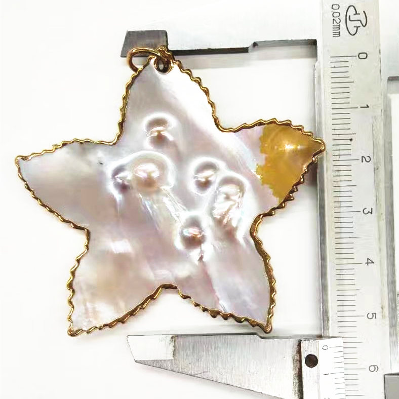 Star Shape Solid Sea Shell Pendant Fashion Jewelry Floating Charms
