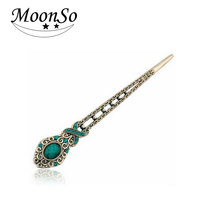 2016 NEW Vintage Retro Hair Stick Hairpins&Clip Crystal Hair Accessories Wedding for Women Bridal Bride Jewelry MoonSo KF004