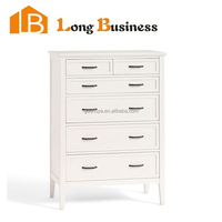 LB-VW5024 White gloss aristo linear six drawer chest of drawers furniture