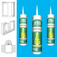 China made silicone material neutral clean door glass glue silicone sealant in drums JY910