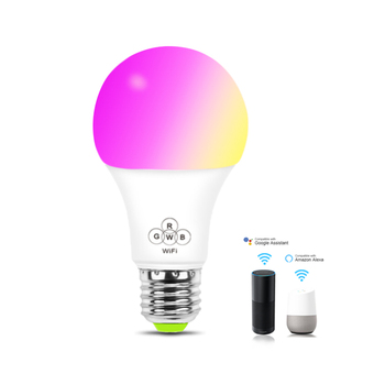 smart light bulb smart led light bulb alexa E27 WiFi controlled plastic RGBW CE RoHS