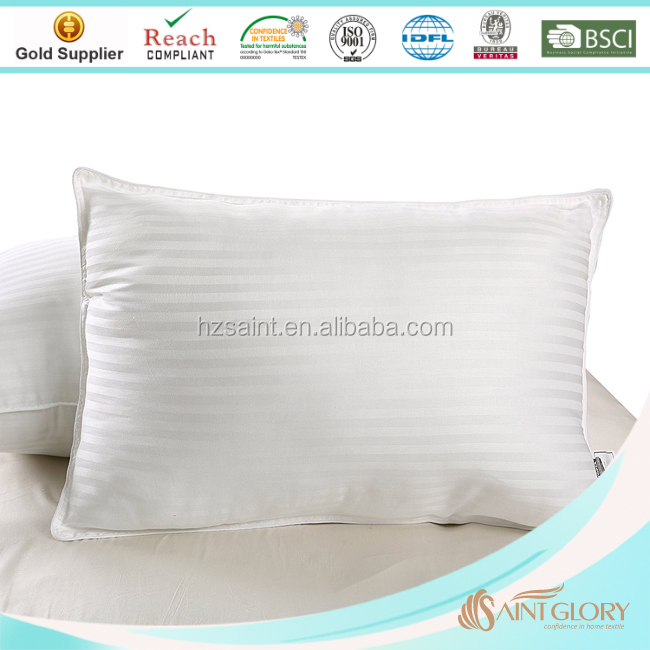 China Factory Cheap Wholesale 95/5 Feather Down Pillow White Goose Down Pillows Insert