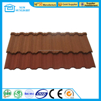 Classic colorful stone coated metal roof tile