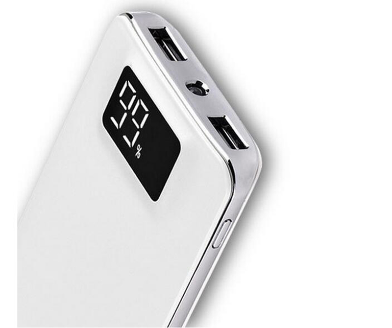 Portable Power Bank 10000 mah External Battery Charger with LCD and LED Flashlight Dual USB