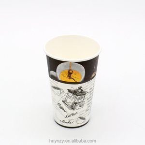 China supplier double PE 8oz/12oz/14oz /16oz custom logo printed cold drink paper cup