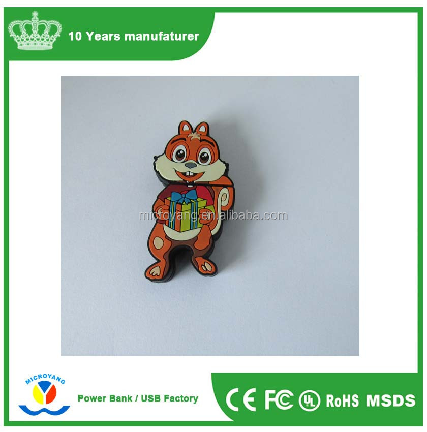 customize animal lovely squirrel image simulation effect usb flash drive 1gb to 128gb interface 2.0