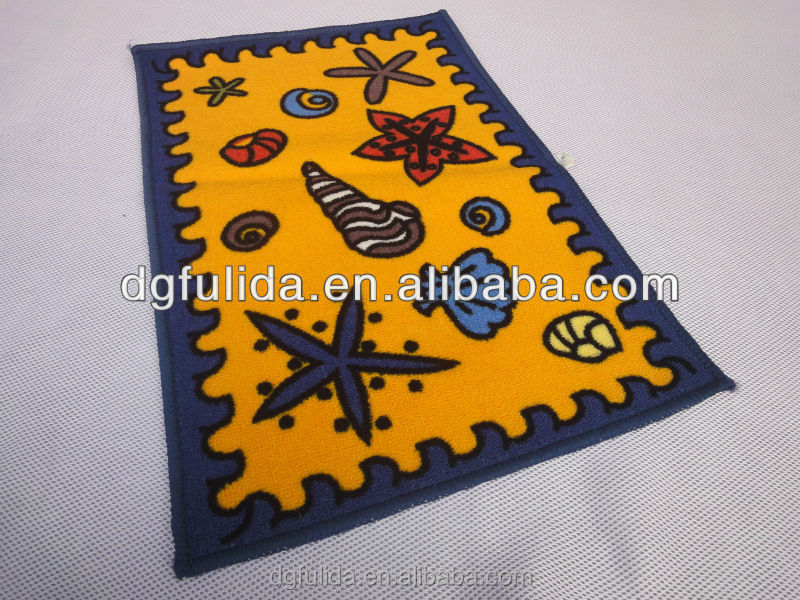 natural rubber+non-woven fabric floor mat rug with Rubber Back Non-Slip (Non-Skid) Door Mat