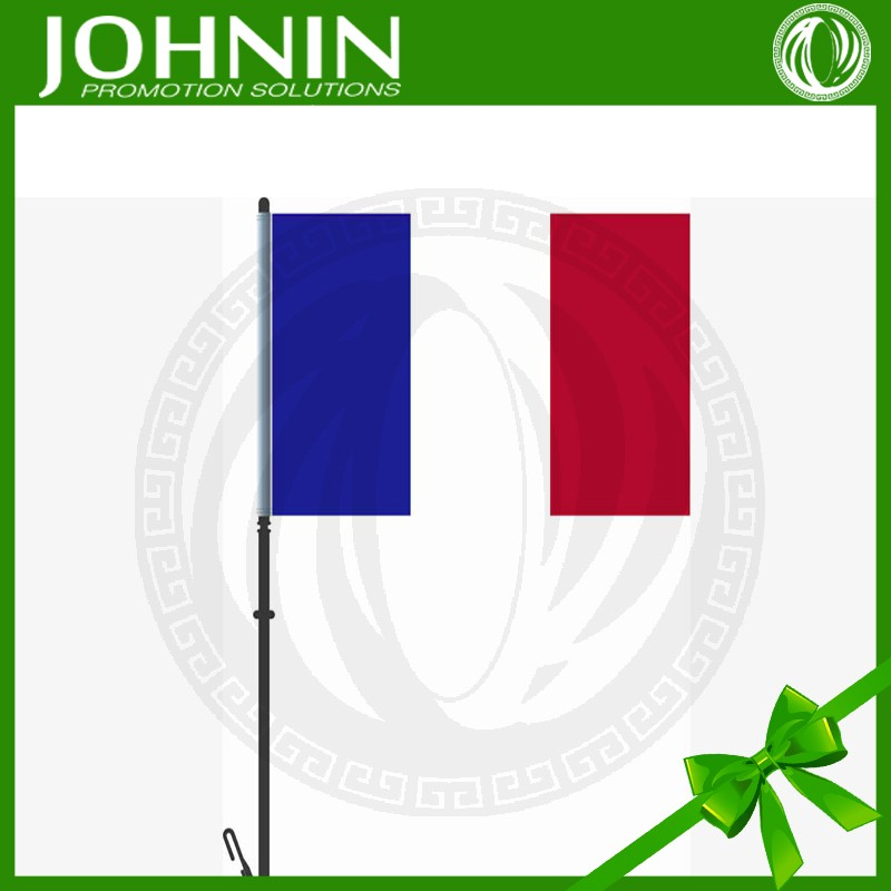 2015 hot sales test pass factory best selling strong plastic pole NO MOQ france national car window flag