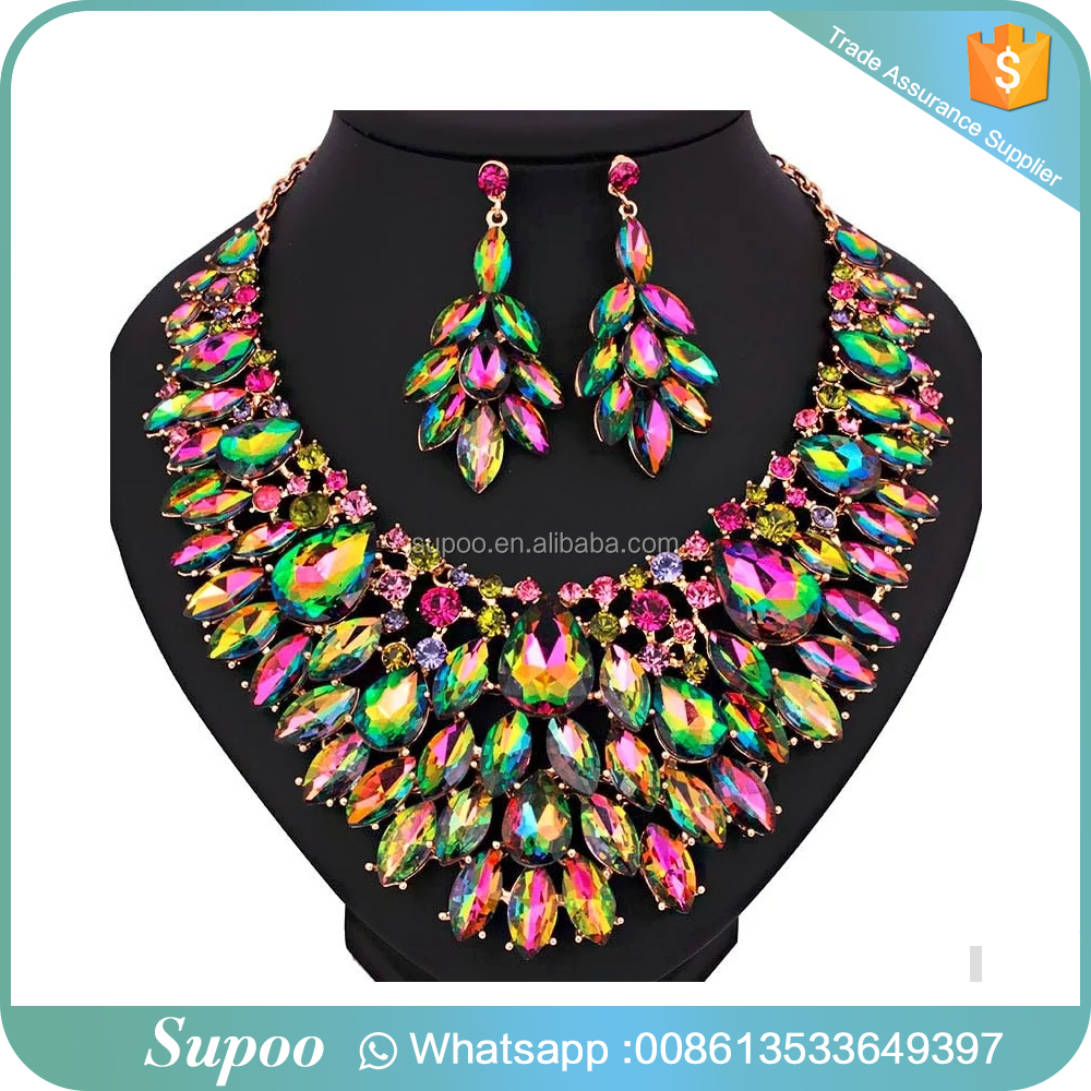 Wholesale african beads jewelry set nigerian wedding / african jewelry sets / jewelry bead