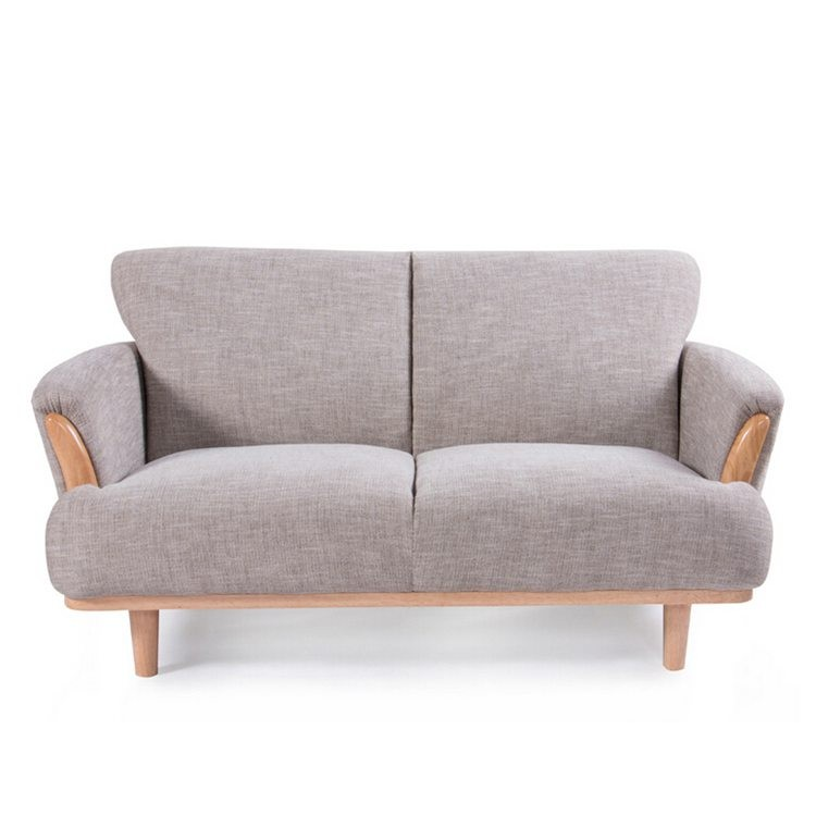 Brich wood frame well-knit living room fabric sofa