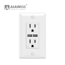 2017 Alibaba com 110V ETL approve usb electric socket receptacle wall usb socket for charging
