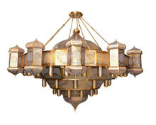 Islam decoration wrought iron big Mosque chandelier lighting