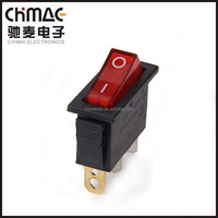 Single rocker switch T85 power control switch on off with light neon kcd3 switch rocker