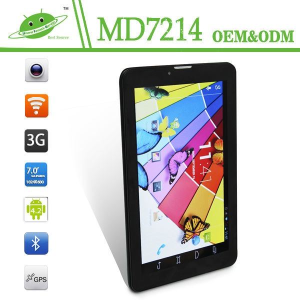 IPS 7inch RAM 1G ROM 16G dual camera Android 4.4 dual core MTK8312 wifi 3g bluetooth gps dishwasher tablet