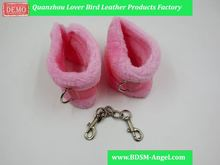 1PC Sexy Pink Fuzzy Bondage Wrist Hand Cuffs Sex Products Plush Handcuffs Bed Restraints Fetish sexy Adult Games Woman Toys