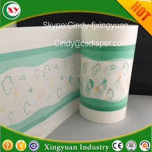 Thermal bond lamination film for diaper and sanitary napkin