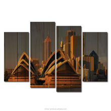 Hd Printed 4 Panels Vintage Pictures Australia City Landscape Posters for Home Decor Canvas Oil Painting Printed on Canvas