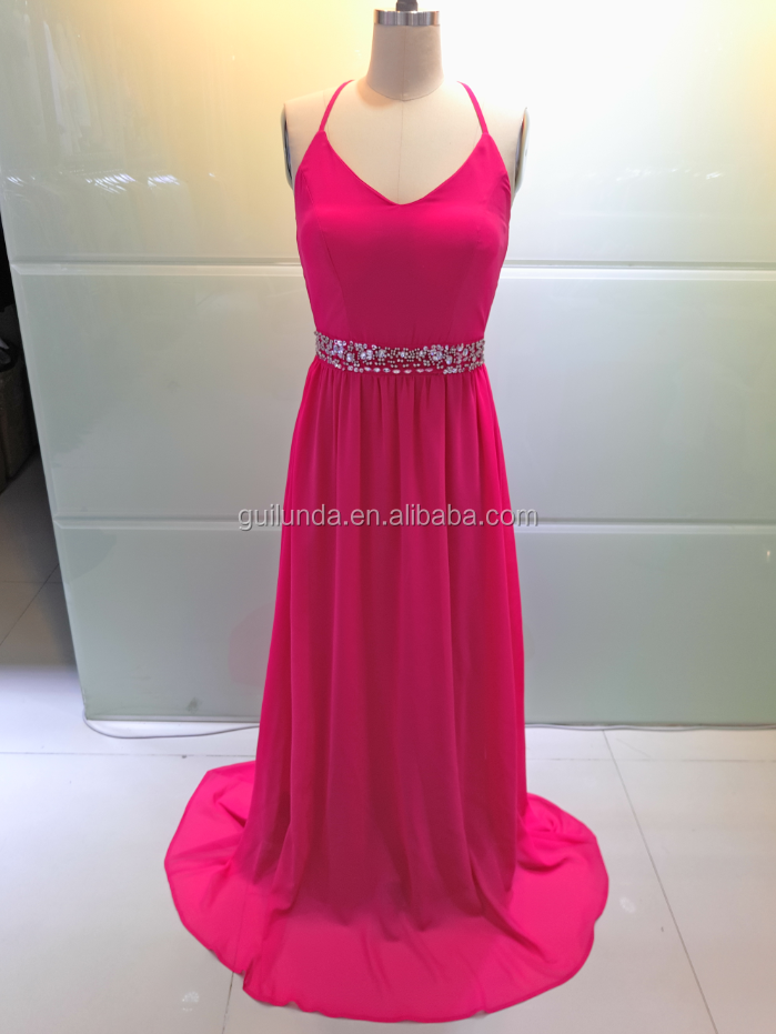 Rose Red Women Fashion Sexy Tank Top Long Eevening Dress Gowns Elegant Homecoming Dress