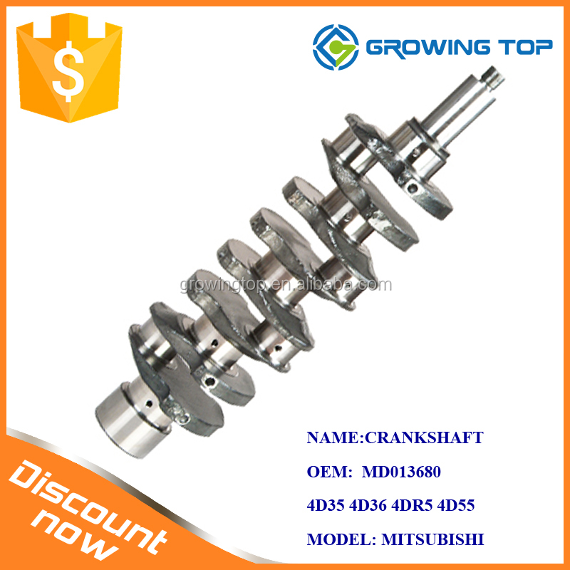 China manufacturer supply Crankshaft MD013680 for Mitsubishi 4D35 4D36 4DR5engine