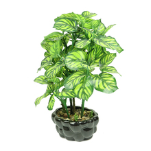 Cheap Wholesale Green Potted Hand-made Artificial Plants For Hotel Decoration