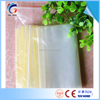 Customized Transparent top ziplock bag for dry food packing Plastic food packaging bag