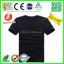 hot sale popular cheap blank v-neck t-shirt factory