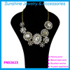 Sunshine flower crystal statement necklace fashion jewelry 2015