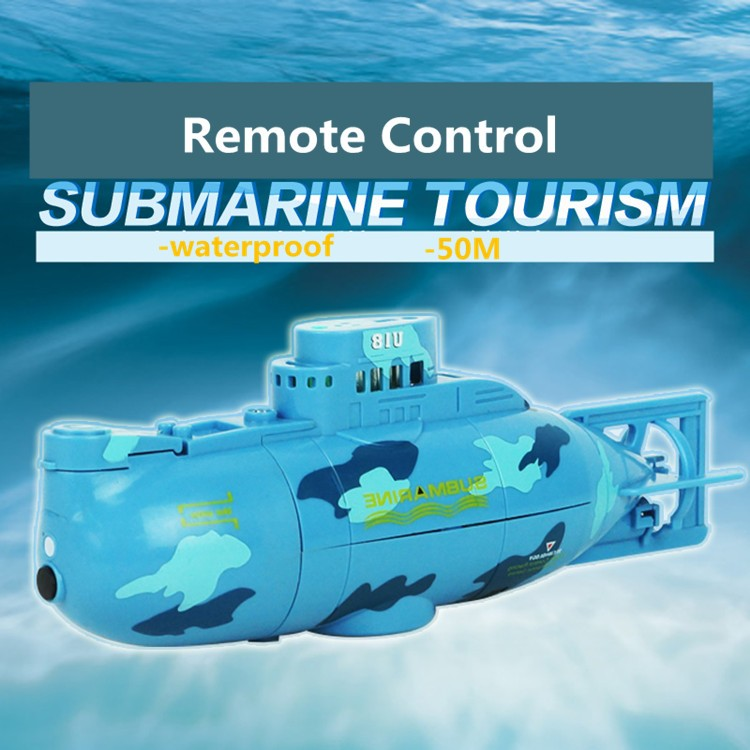 2016 hot sell remote control boat waterproof blue/yellow rc submarine toy