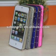 Diamond and metal optical plastic for iphone 5 metal case