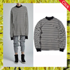 Custom latest new model autumn casual stripe shirts long sleeve crewneck sweatshirt men oversized 100% cotton sweatshirts