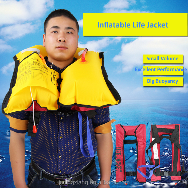 Personalized high quality fabric automatic inflatable life jacket