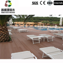2017 Eco-friendly Anti-UV WPC Flooring Outdoor Decking pvc Wood Plastic Composite decking