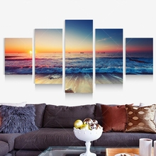 2017 Natural Forest Canvas Printing 5 Picture Wall Art Wholesale Drop-ship Home Deocr