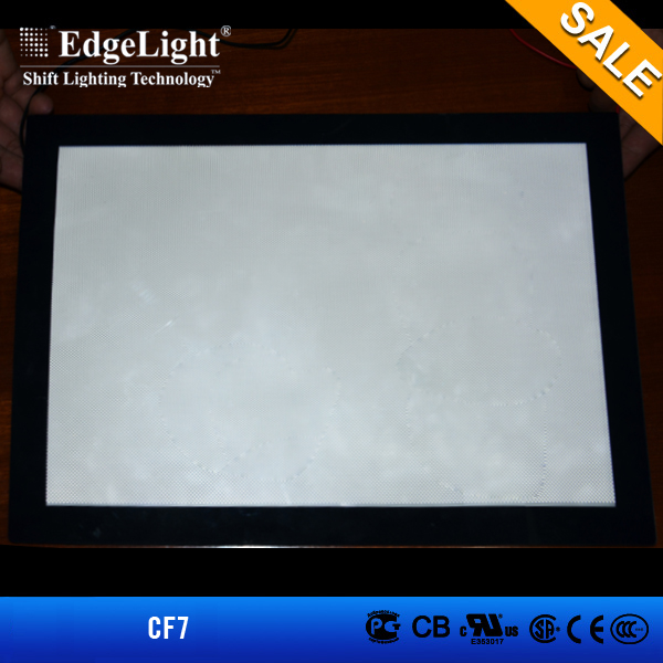Edgelight China alibaba selling crystal led stainless steel picture frame light box for interior decoration