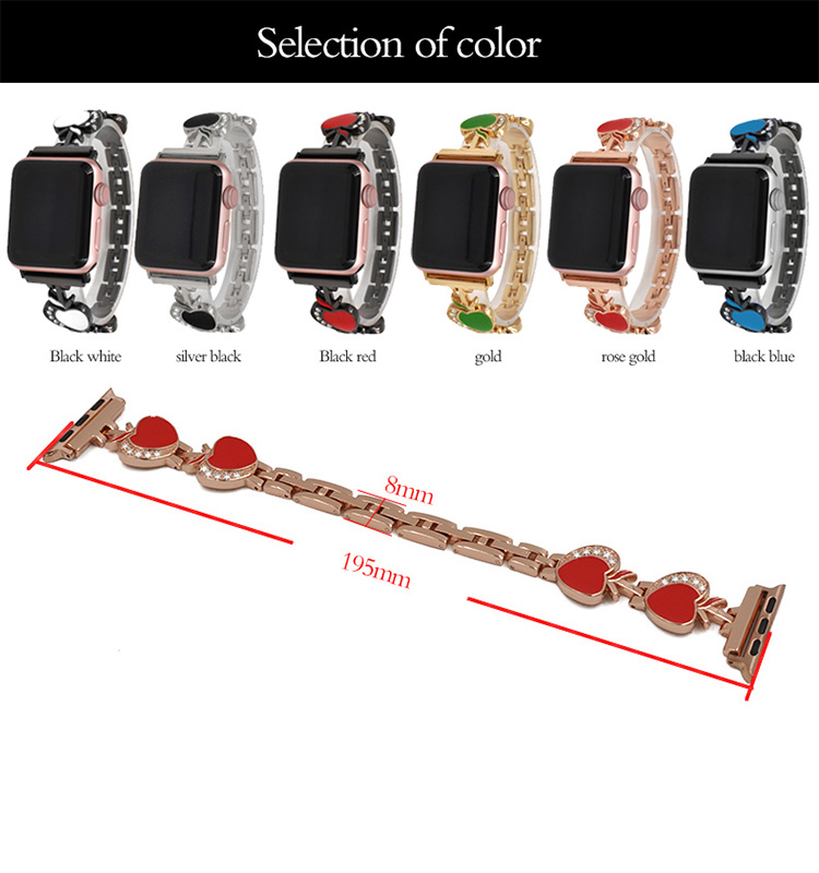 Premium Bling Diamond Watchbands For Apple Watch 38mm 40mm 42mm 44mm