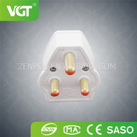 Wenzhou factory wholesale brass solid british standard 15amp plug