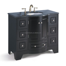 Best selling chinese products hot furniture antique round bathroom vanity luxury cabinet unit espresso bath vanity set