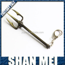 League of Legends LOL game Theme weapons Tidal Hayling halberd keychain ring