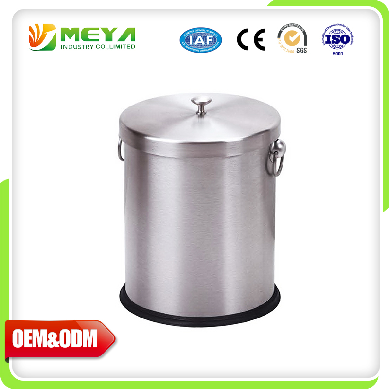 Covered Kitchen Cans Trash Metal Garbage Containers For Sale