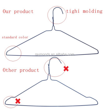 Powder coated shirt hanger