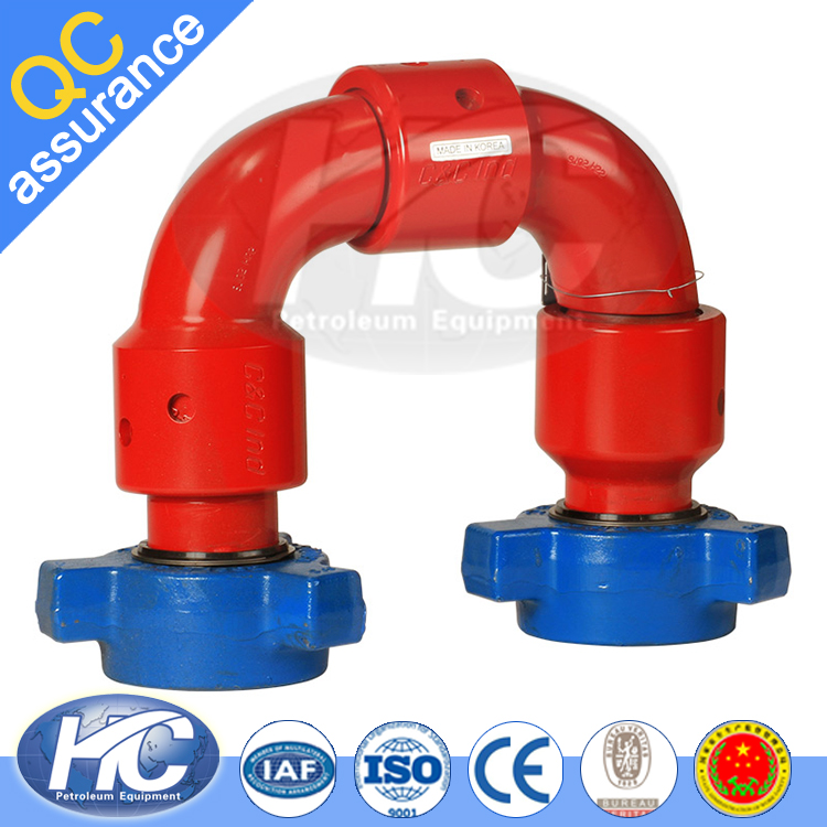 Hot selling swivel nut pipe joint / chiksan joint / water rotating connector made in china