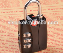 Outdoor Travel Luggage Suitcase Padlock 3 Dial Combination TSA Lock