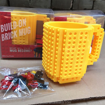 Hot Sale New Product Lego Mug/DIY Build On Brick Mug Wholesale Factory Price