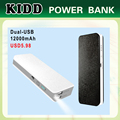 low price 5V/1A 5V/2A 12000mah sale power bank USD5.98