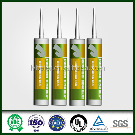New arrival non toxic glass yellow color silicone sealant