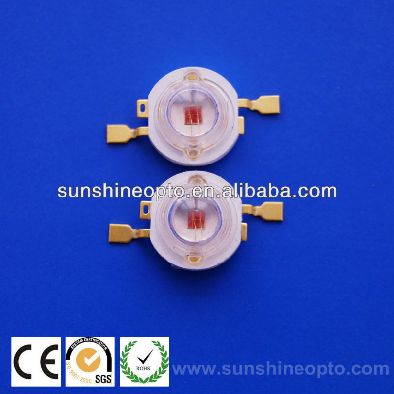3w red high power led diode red 630nm 60-80lm
