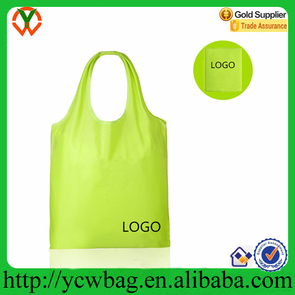 Wholesale foldable reusable waterproof ripstop nylon shopping grocery bags