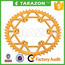Motorcycle rear aluminum chain sprockets for RMZ250 dirt bike