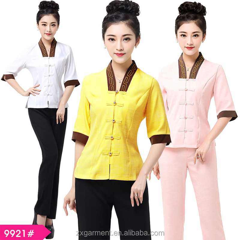 Fashion design wholesale price spa beauty message uniform