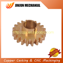 manufacturer offord premium quality QA9-4 brass Worm Spur Gear for textile equipment